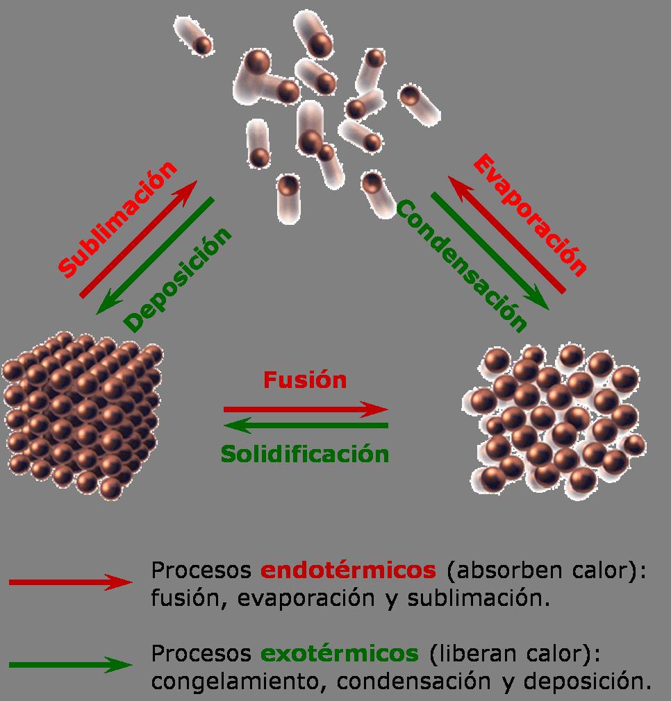 Resultado de imagen de Moléculas y transiciones de fase